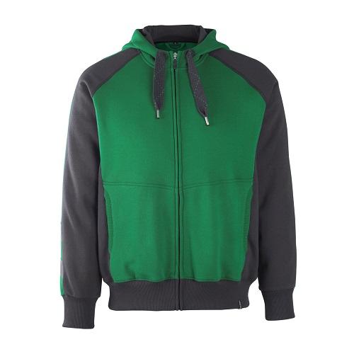 d065eefdd819 MASCOT Wiesbaden Hoodie with Zipper Modern Fit Green   Black