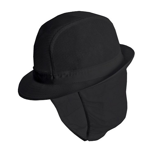 Trilby Hat with Snood Black Small