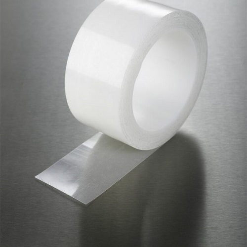 Transparent Polyethylene Tape 50mm x 25m Clear Single Roll