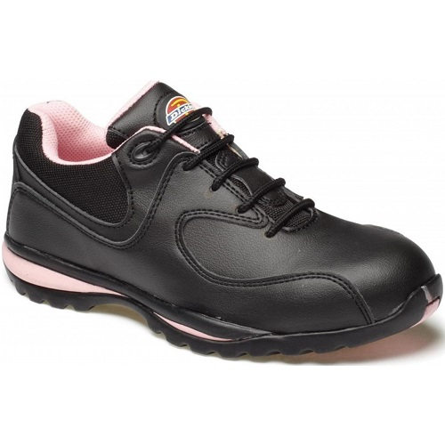 FD13905 Ohio Ladies Safety Trainer Black / Pink Size 4