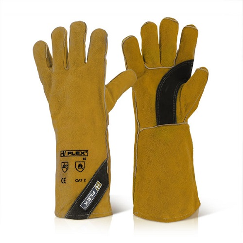 Premium Golden Welders Re-Inforced Gloves Brown