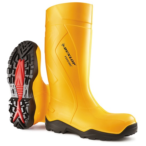 Purofort+ Full Safety Wellington Boot Yellow Size 6
