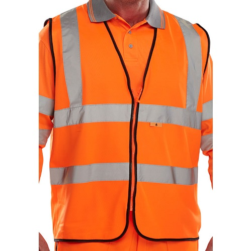 Fire Retardant Hi-Vis Waistcoat Orange Medium