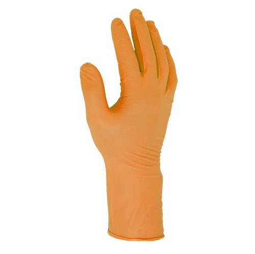 Fishscale Grip Gloves 24cm Orange Box of 50 M
