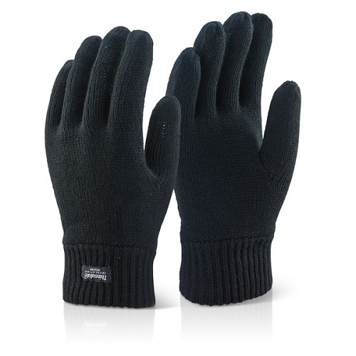 Thinsulate Thermal Woollen Glove Black