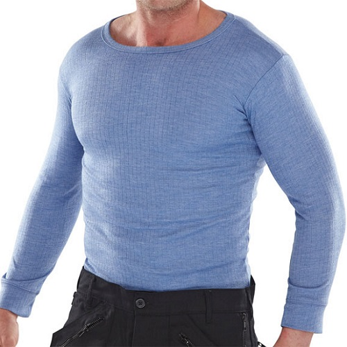 Thermal Vest Long Sleeved Blue Small