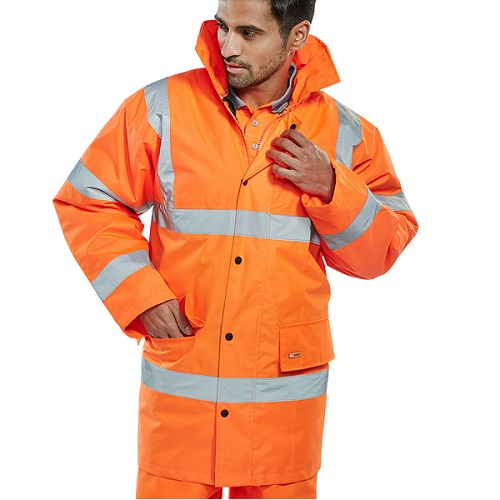 Hi-Vis Budget Constructor Jacket Orange S