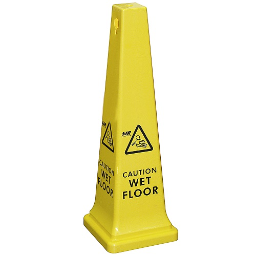 Tall Wet Floor Sign Large Yellow