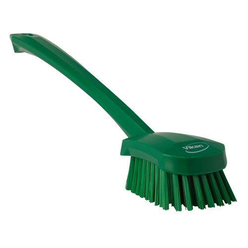 Washing Brush with Long Handle 415 mm Hard Green