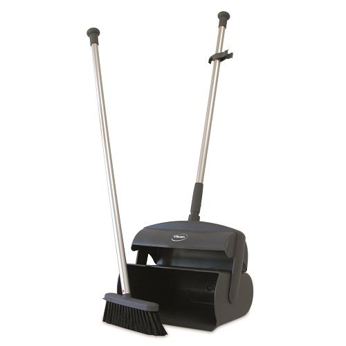 Dustpan Set Closed with Broom and Squeegee 1050 mm Grey