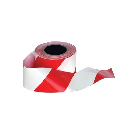 Non-Adhesive Barrier Tape in a Dispenser Box 75mm x 500m Red / White Single Roll