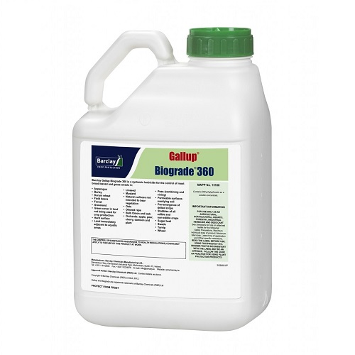 Gallup 360 Biograde Glyphosate Concentrated Weed Killer 2 x 5 Litres