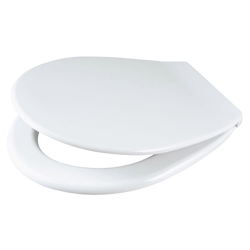 Universal Toilet Seat and Cover White Plastic