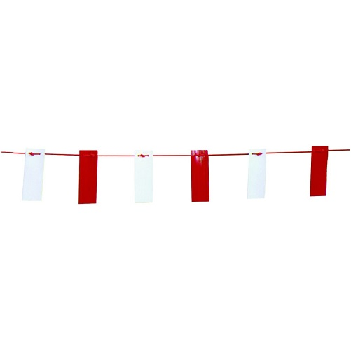 Bunting Tape 26m Red and White on a Rope