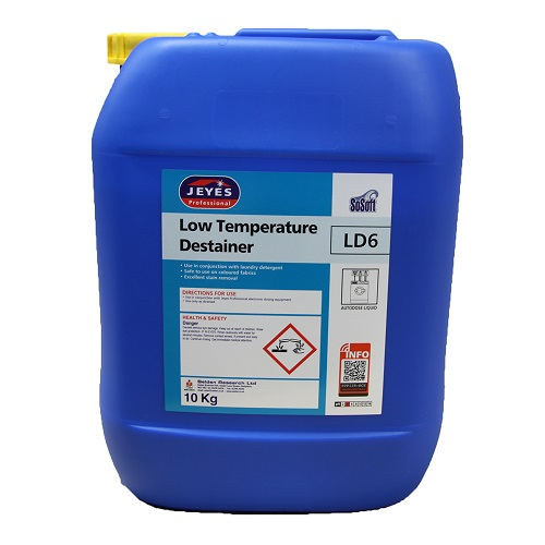 Jeyes LD6 SoSoft Low Temperaure Laundry Destainer 10 litres