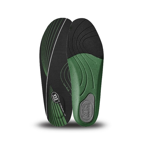 Mens Dynamic Arch Insoles Green - Low Arch Size 3