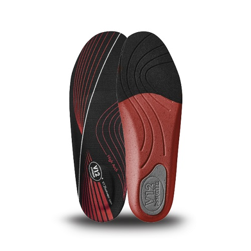 Mens Dynamic Arch Insoles Red - High Arch Size 3