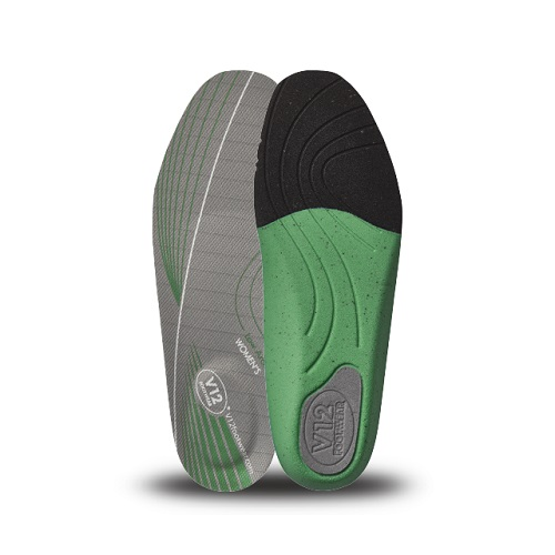 Womens Dynamic Arch Insoles Green - Low Arch Size 2