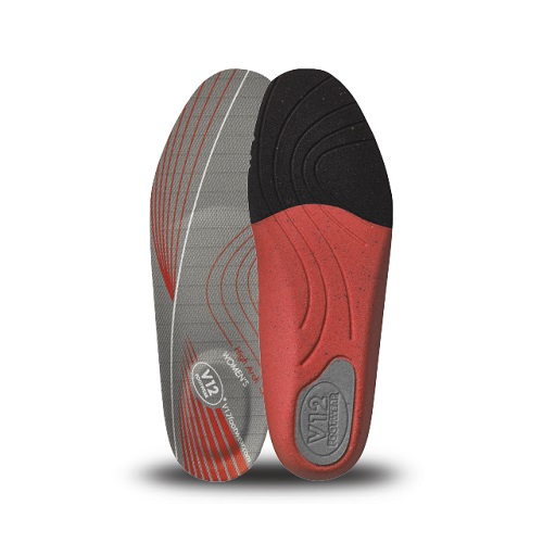 Womens Dynamic Arch Insoles Red - High Arch Size 2