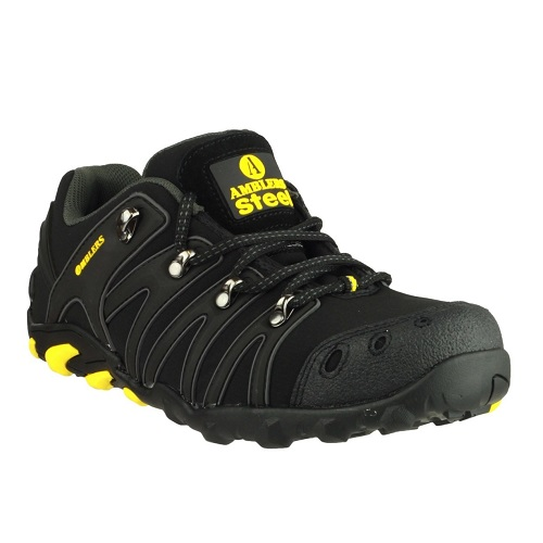 FS23 Soft Shell Trainer S3 SRA Black / Yellow Trim Size 9