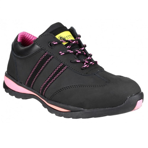 Amblers FS47 Safety Trainer S1 Black / Pink Size 3