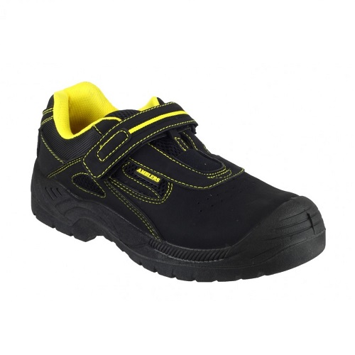 Amblers Safety Trainer Bar Fastening S1P SRC Black / Yellow Size 9