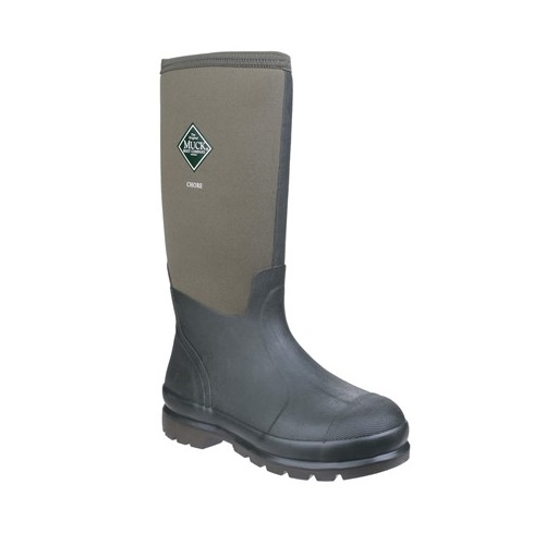 Chore Classic Hi Waterproof Non-Safety Wellington Boot Moss Size 4