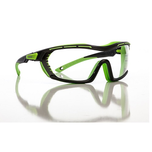 Arion Clear Safety Specs Green / Black Anti-Scratch Anti-Fog Tecton Lens