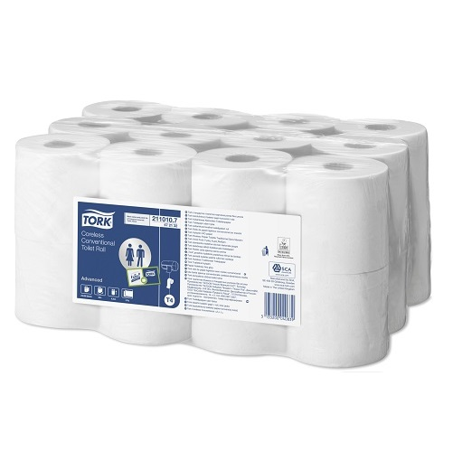 Tork Advanced Coreless Conventional Toilet Rolls White 2 Ply 24's T4
