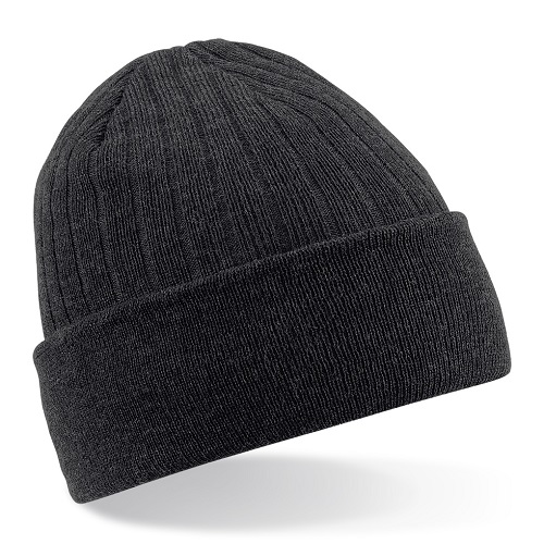 B447 Beechfield Thinsulate Beanie Black