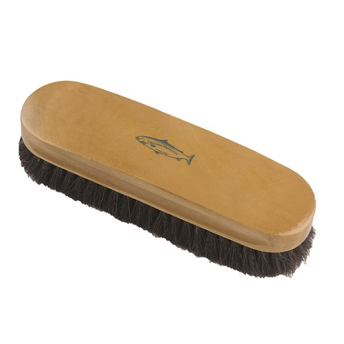 "7"" Shoe Brush Varnished Stock Pure Black Bristles 79 mm x 52 mm"