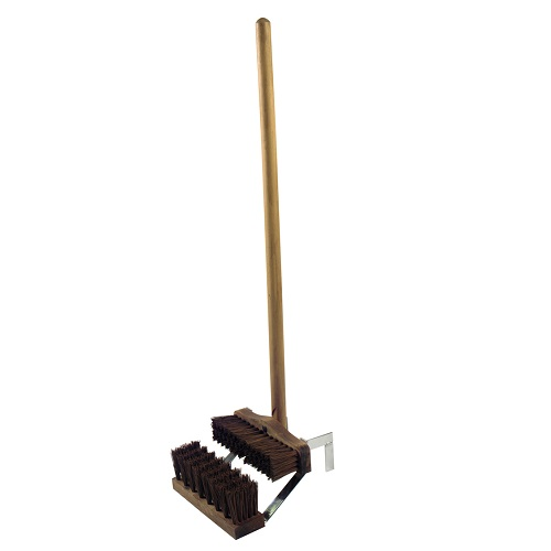 Boot Wiper Brush Stand Complete with Treated Handle