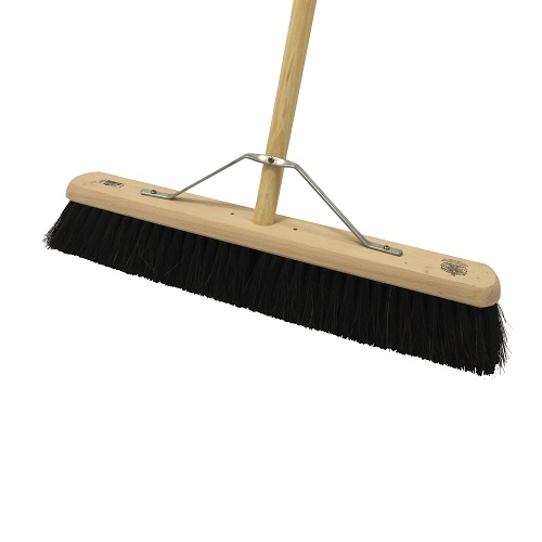 "Platform Broom 24"" Medium / Soft Complete with Handle / Stay"