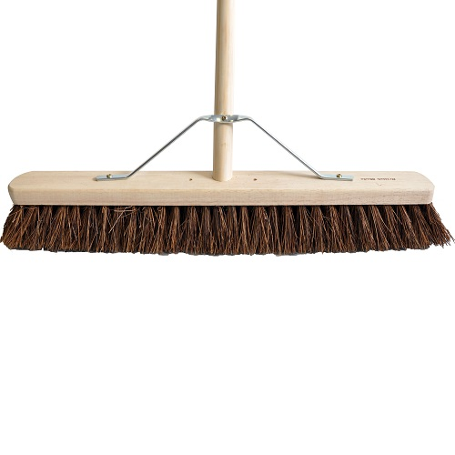 "Platform Broom 36"" Medium / Soft Complete with Handle / Stay"