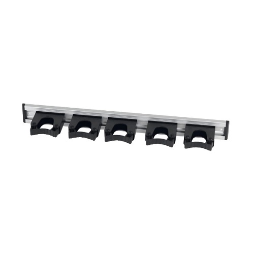 Aluminium Hanging Rail Set Black 515 mm