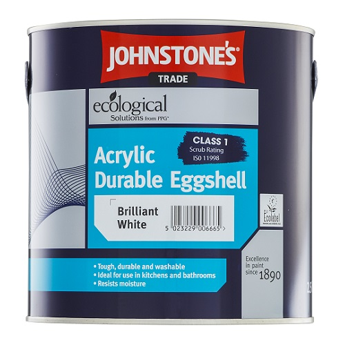 Acrylic Durable Eggshell Brilliant White 2.5 litres