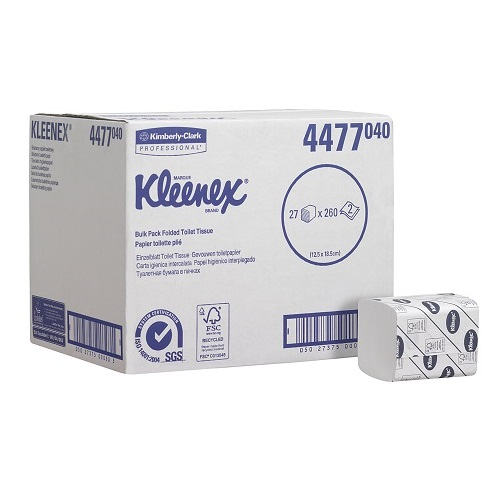KLEENEX 27 Bulk Pack Toilet Tissue White 2 Ply 27 x 260 Sheets