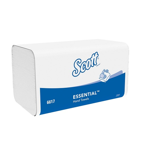 SCOTT® XTRA Hand Towels Interfolded 1 Ply White Small 5100's (To replace KC6677)