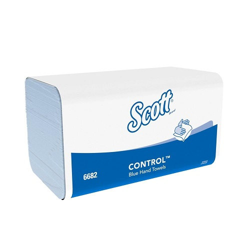 Scott XTRA Interfold Hand Towels Blue 1 Ply 3600's  (Available until stocks depleted)