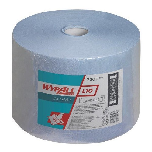 Wypall L10 Extra Blue Cloths Single Large Roll 1000 Sheets 23.5 x 38cm