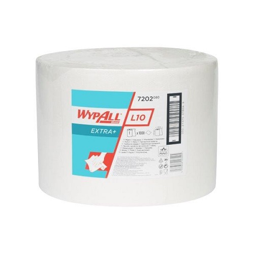 Wypall L10 Extra White Cloths Single Large Roll 1000 Sheets 23.5 x 38cm