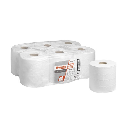 WYPALL* L20 Cleaning and Maintenance Centre Feed Rolls 2 Ply White 6's (To replace KC7268)