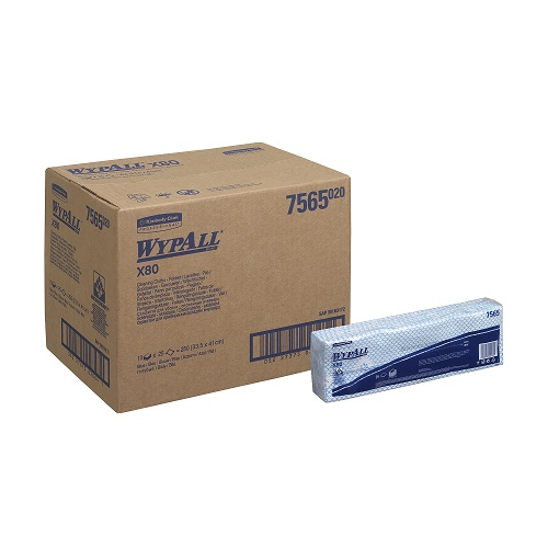 Wypall X80 Cleaning Cloths Interfolded Blue 10 Packs x 25's