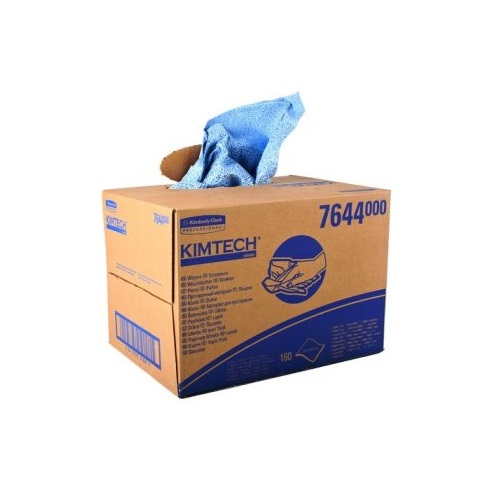 KIMTECH Brag Box Process Wipers 1 Ply Blue 160's (Available until stocks depleted)