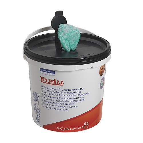 Wypall Cleaning Wipers Green Single Tub of 90 Sheets