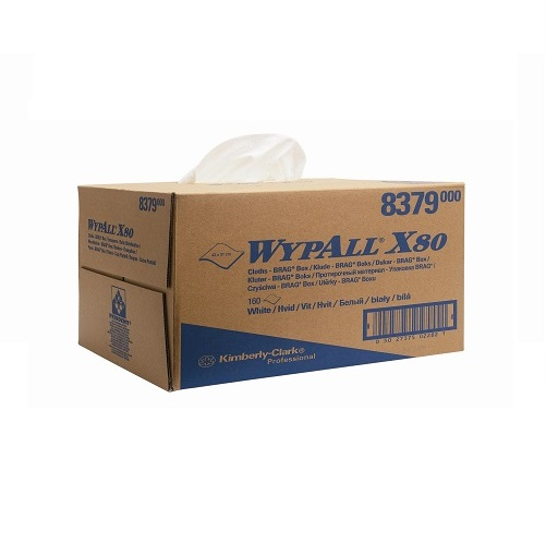Wypall X80 Brag Box Cloths White 160's