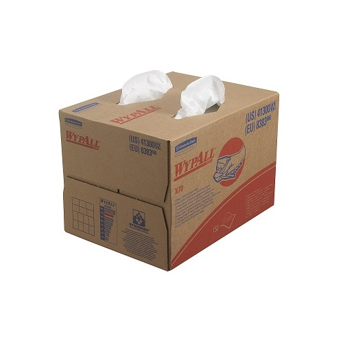 Wypall X70 Brag Box Cloths White 1 Ply 152's