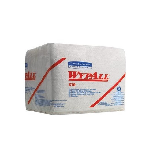 Wypall X70 Quarterfold Cloths White 1 Ply 912's