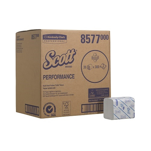 SCOTT 36 Bulk Pack Toilet Tissue White 36 x 300 Sheets