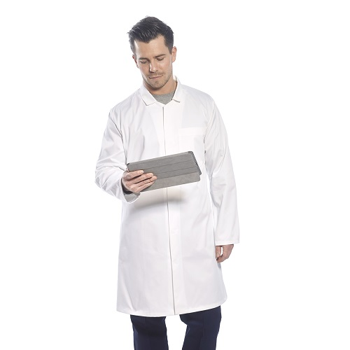 Mens Food Coat One Pocket 2202 White X Small